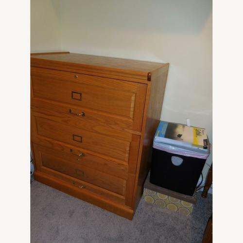 Used Winners Only 3 Draw Oak Filing Cabinet for sale on AptDeco