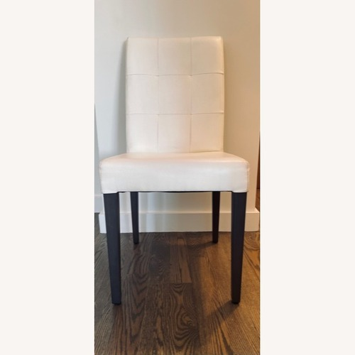 Used Lazzoni Leatherette Chairs Cream color for sale on AptDeco
