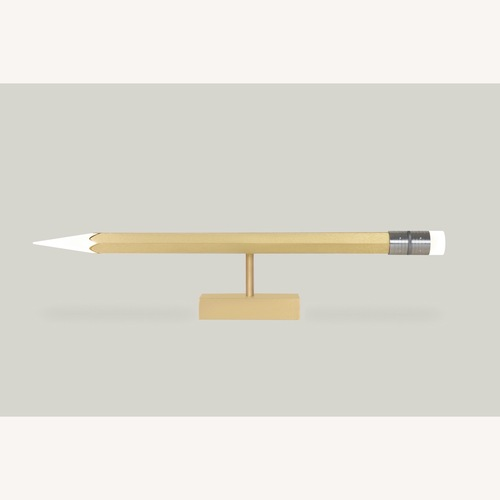 Used Pencil Brass Table Lamp for sale on AptDeco