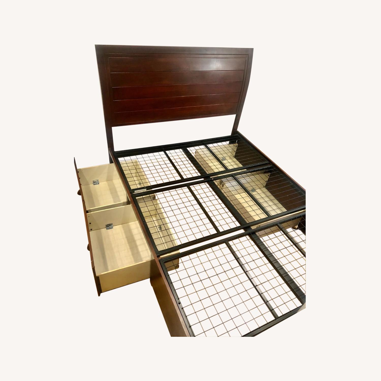 Sleepy's Queen Size Bedframe with Storage - image-0