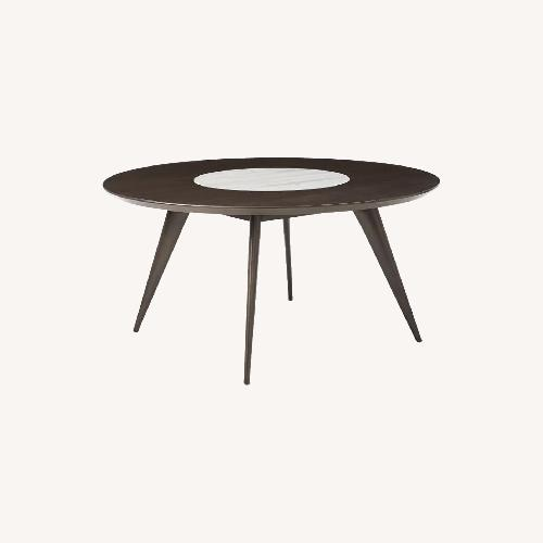 Used West Elm Wood Dining Table w/ Marble for sale on AptDeco