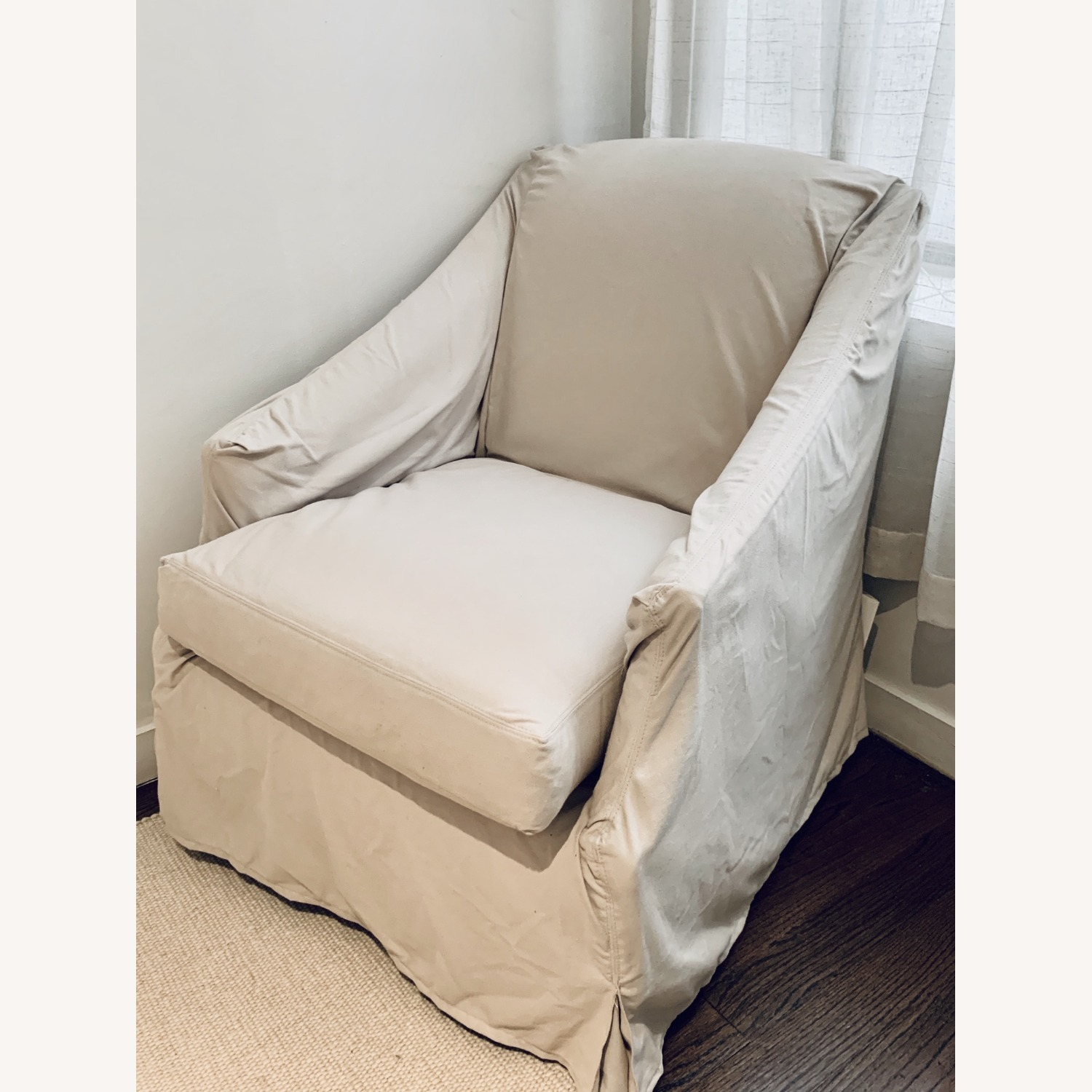 Restoration Hardware Slipcovered Swivel Glider - image-5