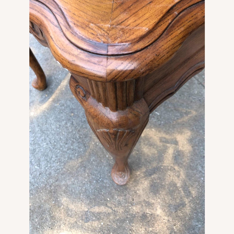 Palliser 1970s Wood & Beverly Glass Side Table - image-9