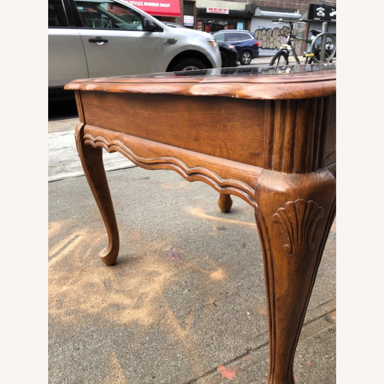 Palliser 1970s Wood & Beverly Glass Side Table - image-6