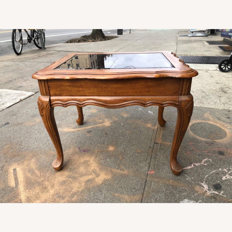 Palliser 1970s Wood & Beverly Glass Side Table - image-1