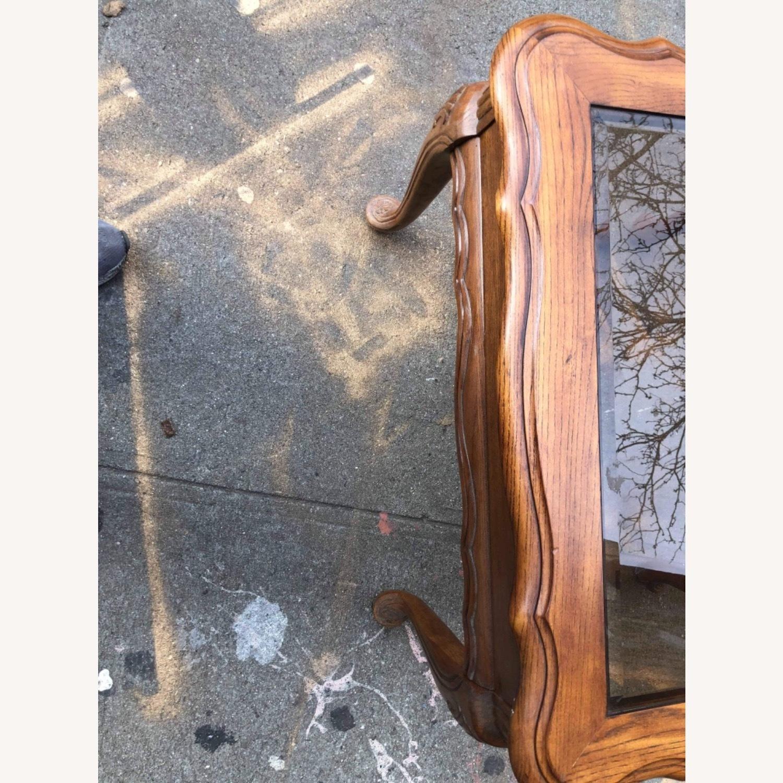 Palliser 1970s Wood & Beverly Glass Side Table - image-5