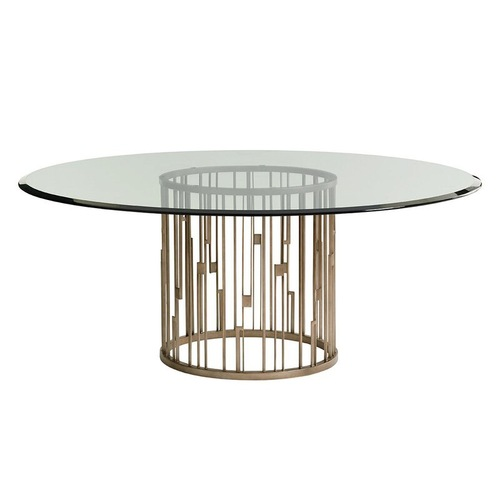 Used Lexington Furniture Round Glass Dining Table for sale on AptDeco