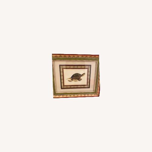 Used John-Richard Tortoise Prints Bful Wood Frame for sale on AptDeco