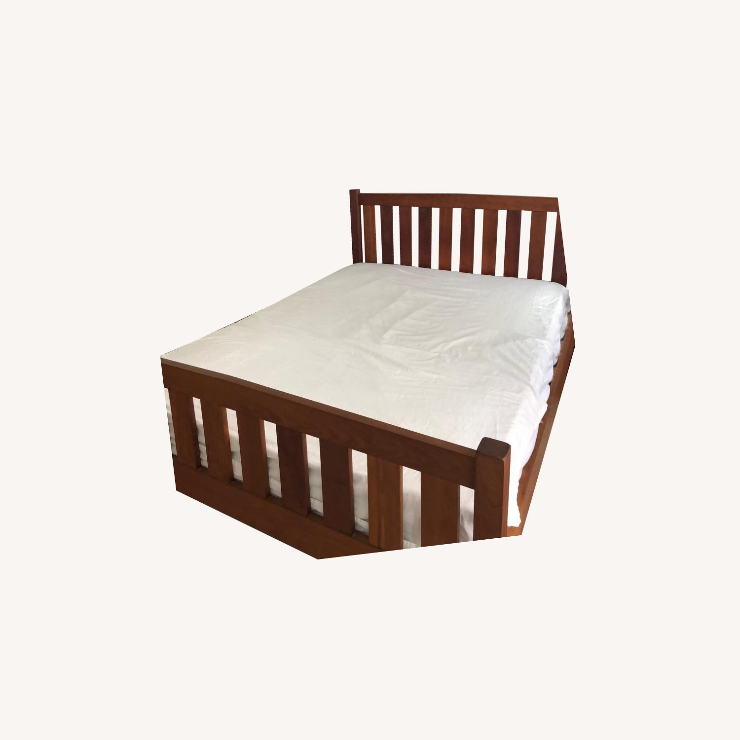 Solid Cherry Bed Frame and Headboard - image-0