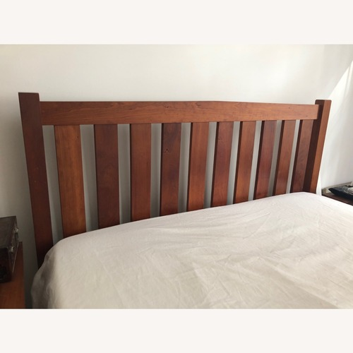 Used Solid Cherry Bed Frame and Headboard for sale on AptDeco
