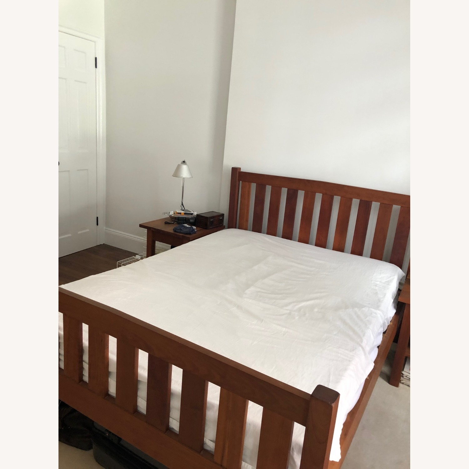 Solid Cherry Bed Frame and Headboard - image-3
