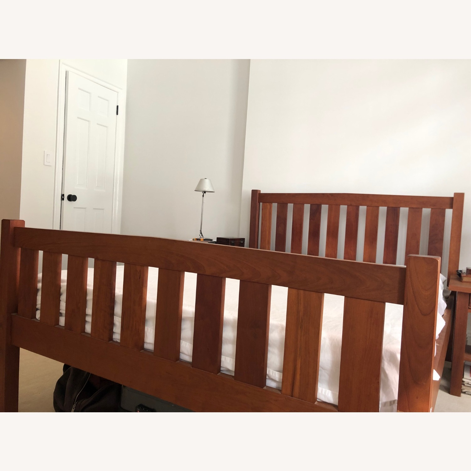 Solid Cherry Bed Frame and Headboard - image-2