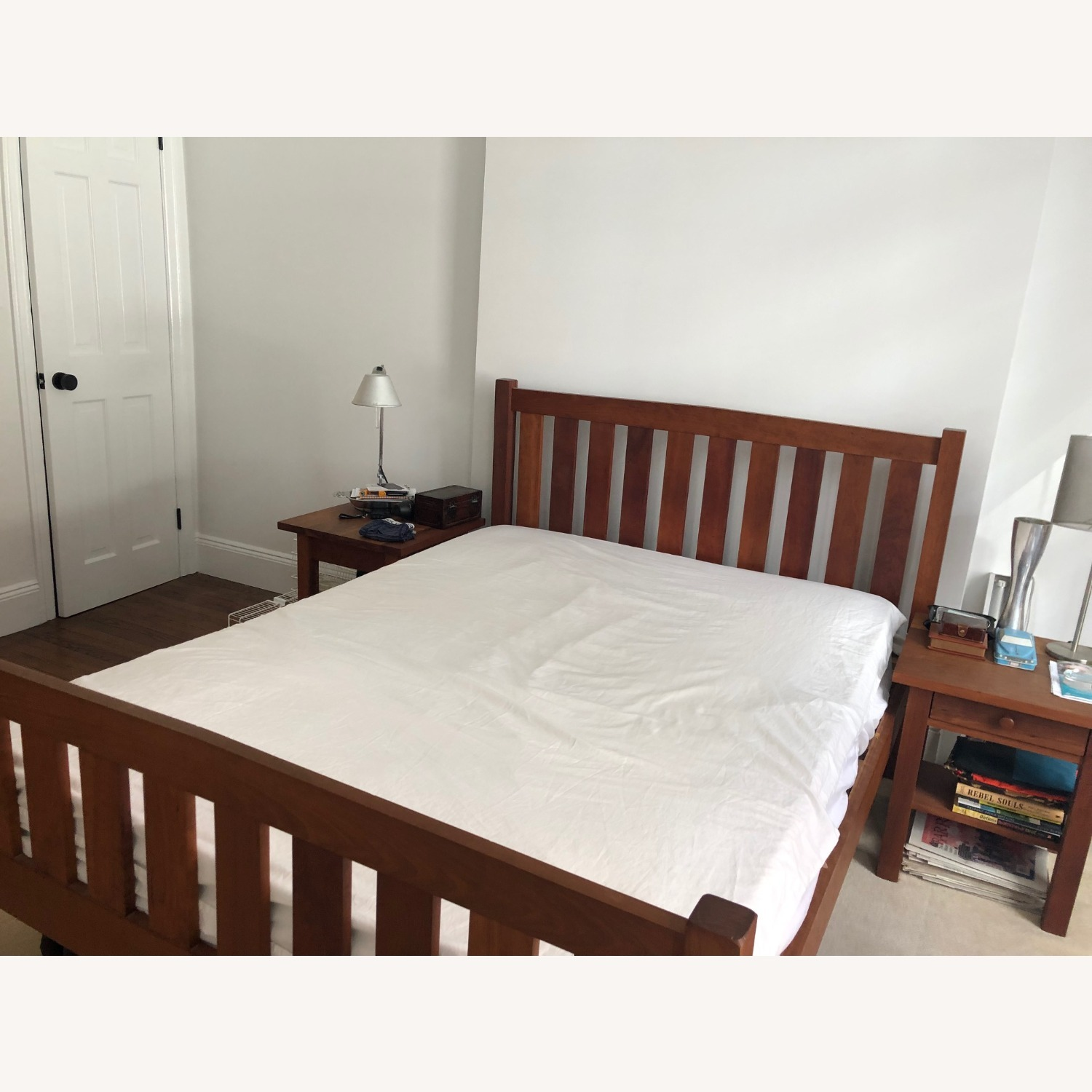 Solid Cherry Bed Frame and Headboard - image-4