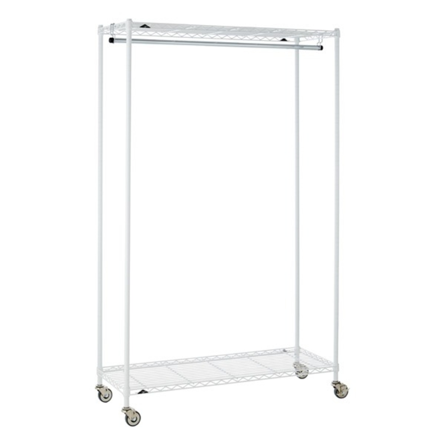 InterMetro Large White Clothes Rack - image-7
