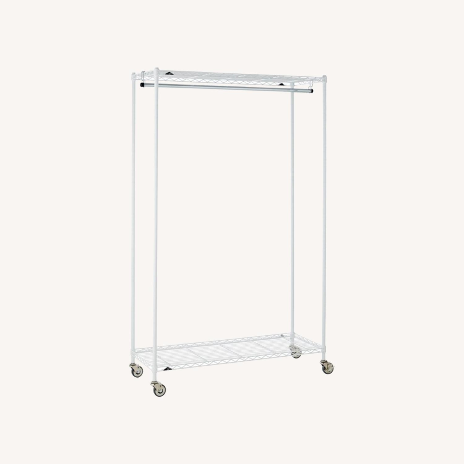 InterMetro Large White Clothes Rack - image-0