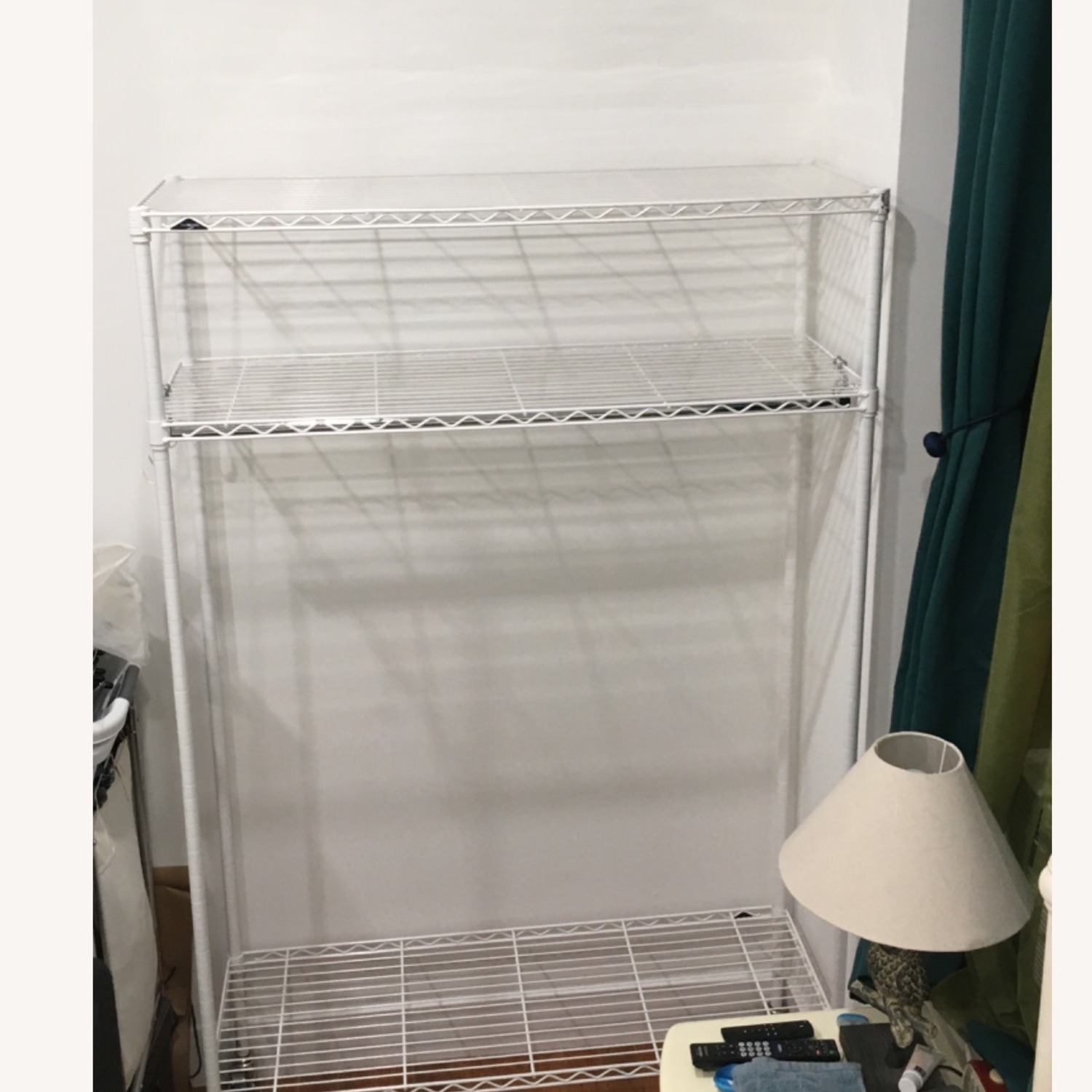 InterMetro Large White Clothes Rack - image-3