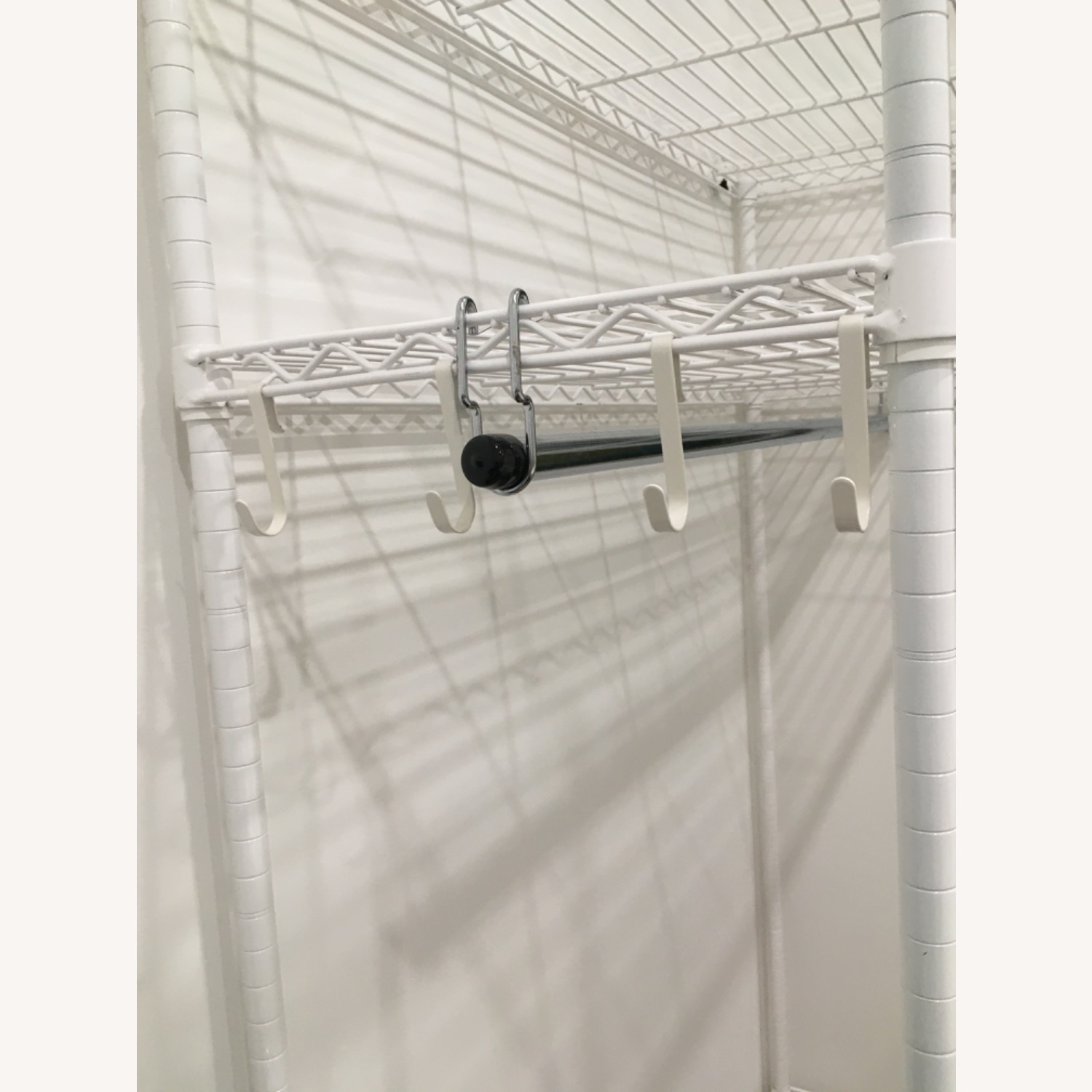 InterMetro Large White Clothes Rack - image-2