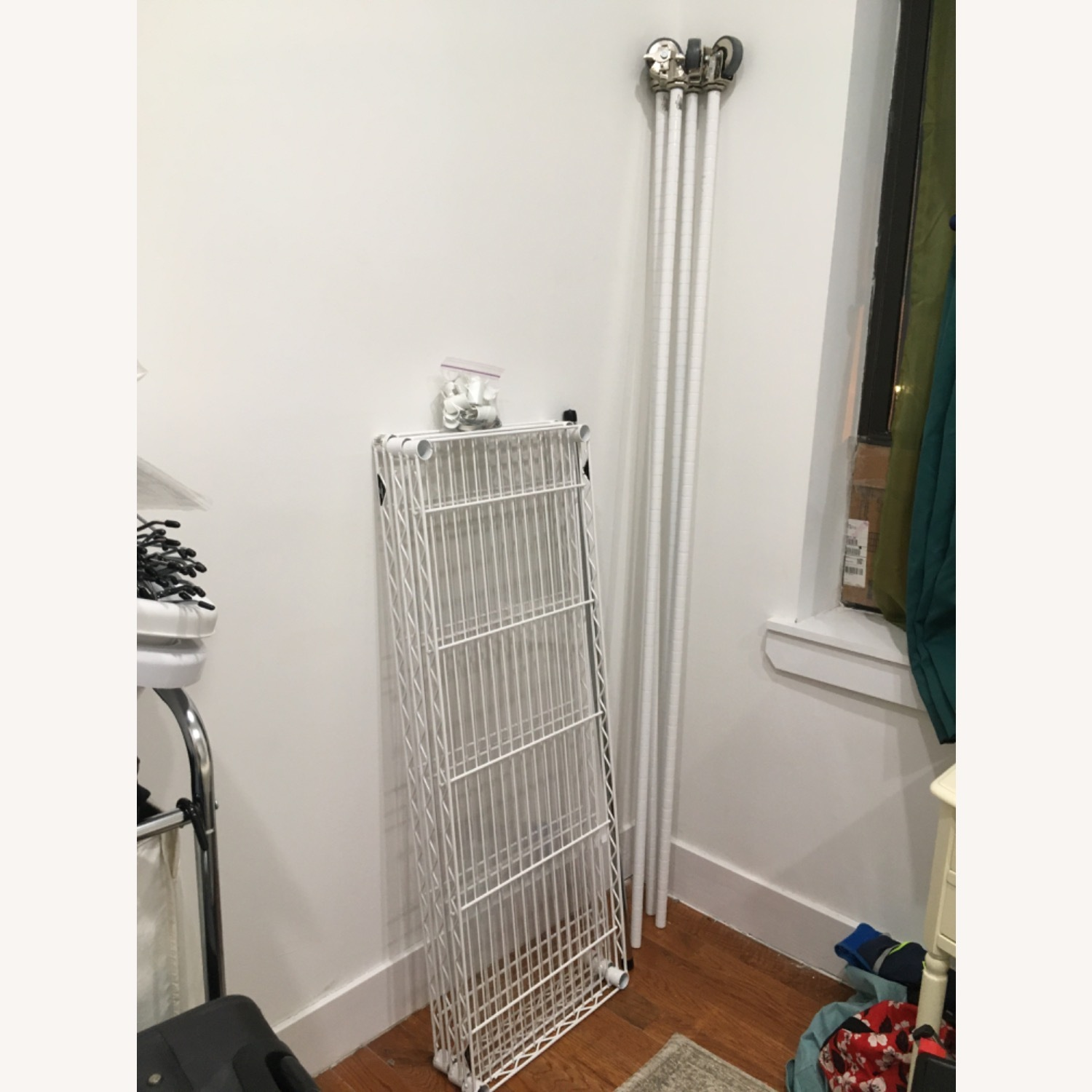 InterMetro Large White Clothes Rack - image-4