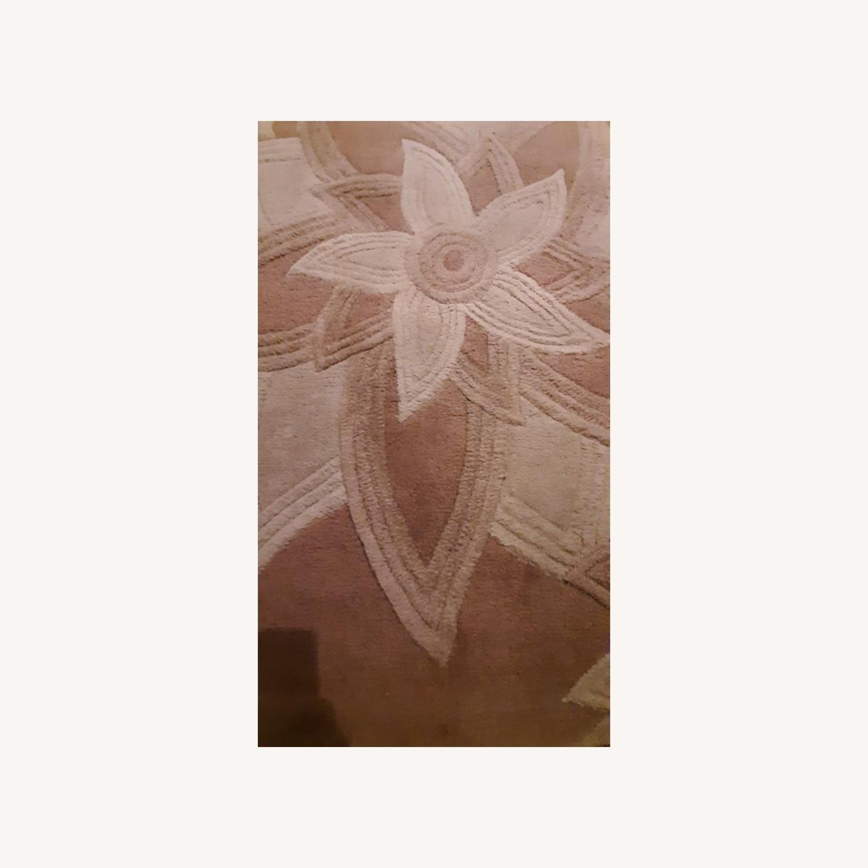 Textured Floral Carpet - image-0