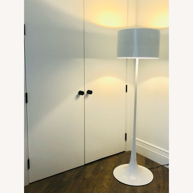 Flos White Spun Floor Lamp - image-1