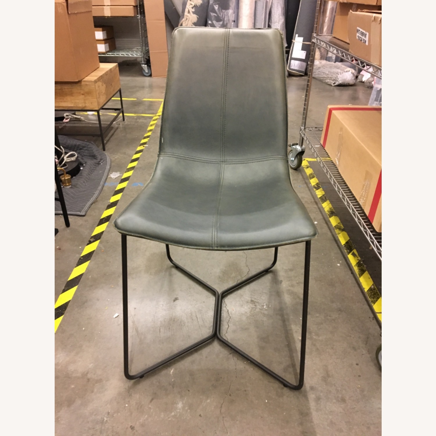 West Elm Slope Leather Dining Chair Aptdeco