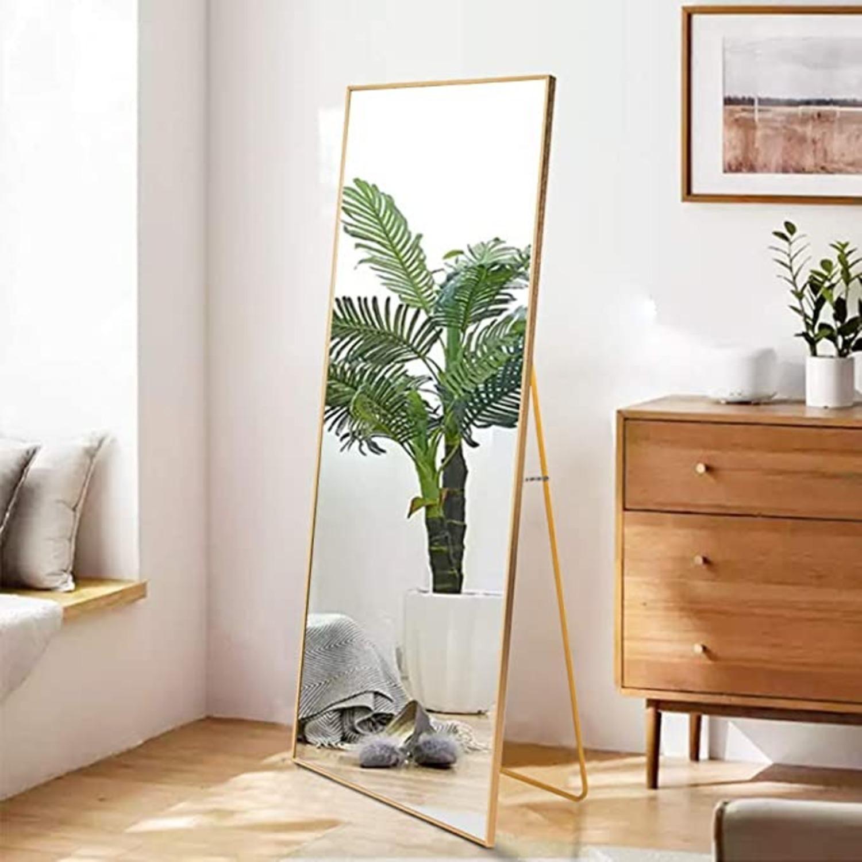 Gold Full Length Standing Mirror Aptdeco