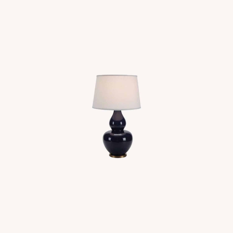 Ethan Allen Navy Blue Ceramic Table Lamp - image-0