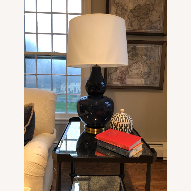Ethan Allen Navy Blue Ceramic Table Lamp - image-5