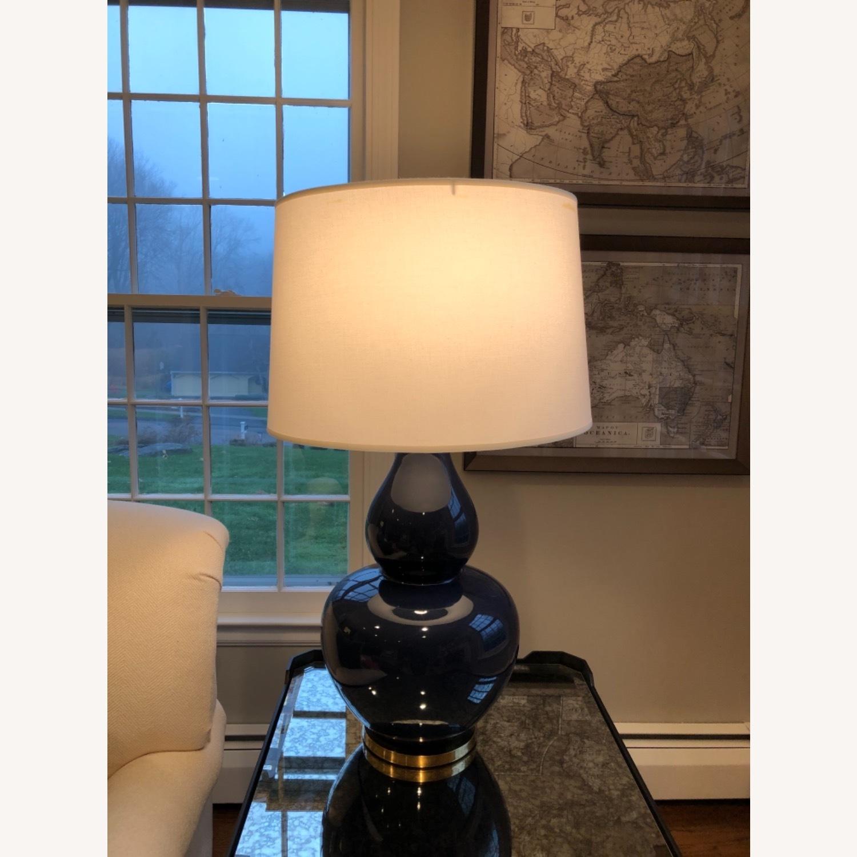 Ethan Allen Navy Blue Ceramic Table Lamp - image-2