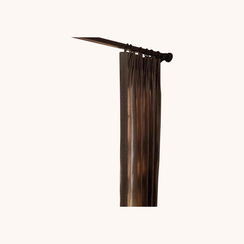 Calico Corners Custom Silk Drapes - image-0
