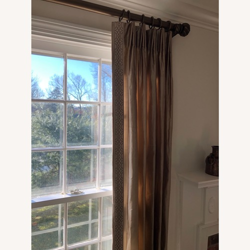 Used Calico Corners Custom Silk Drapes for sale on AptDeco