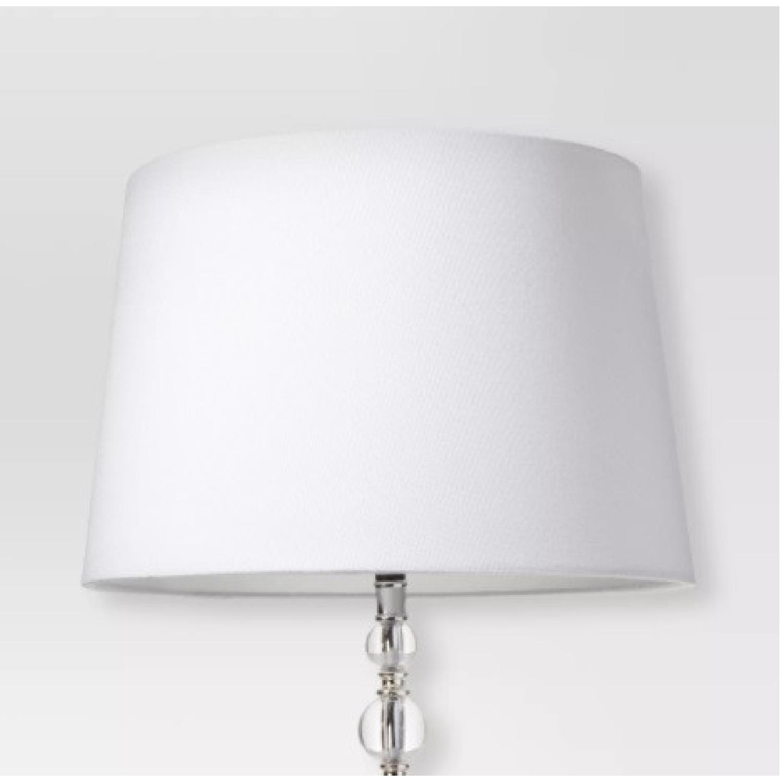 Target Modern White Linen Drum Lamp Shades - image-4