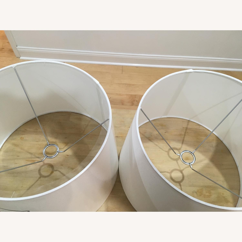 Target Modern White Linen Drum Lamp Shades - image-2