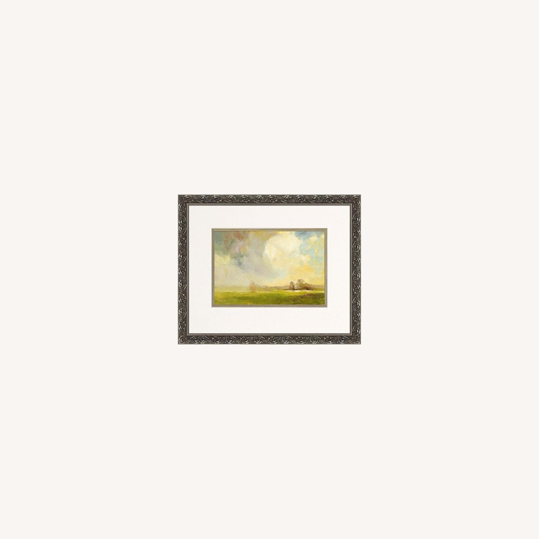 Ethan Allen Misty Landscape Framed Print - image-0