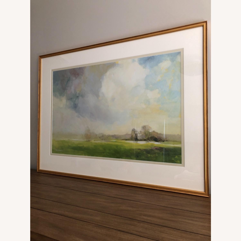 Ethan Allen Misty Landscape Framed Print - image-1