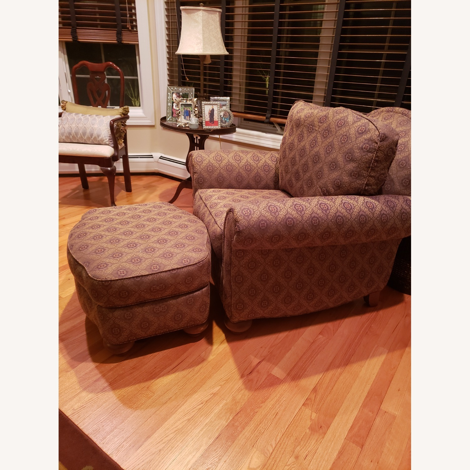 Ethan Allen Chair with Ottoman - image-3