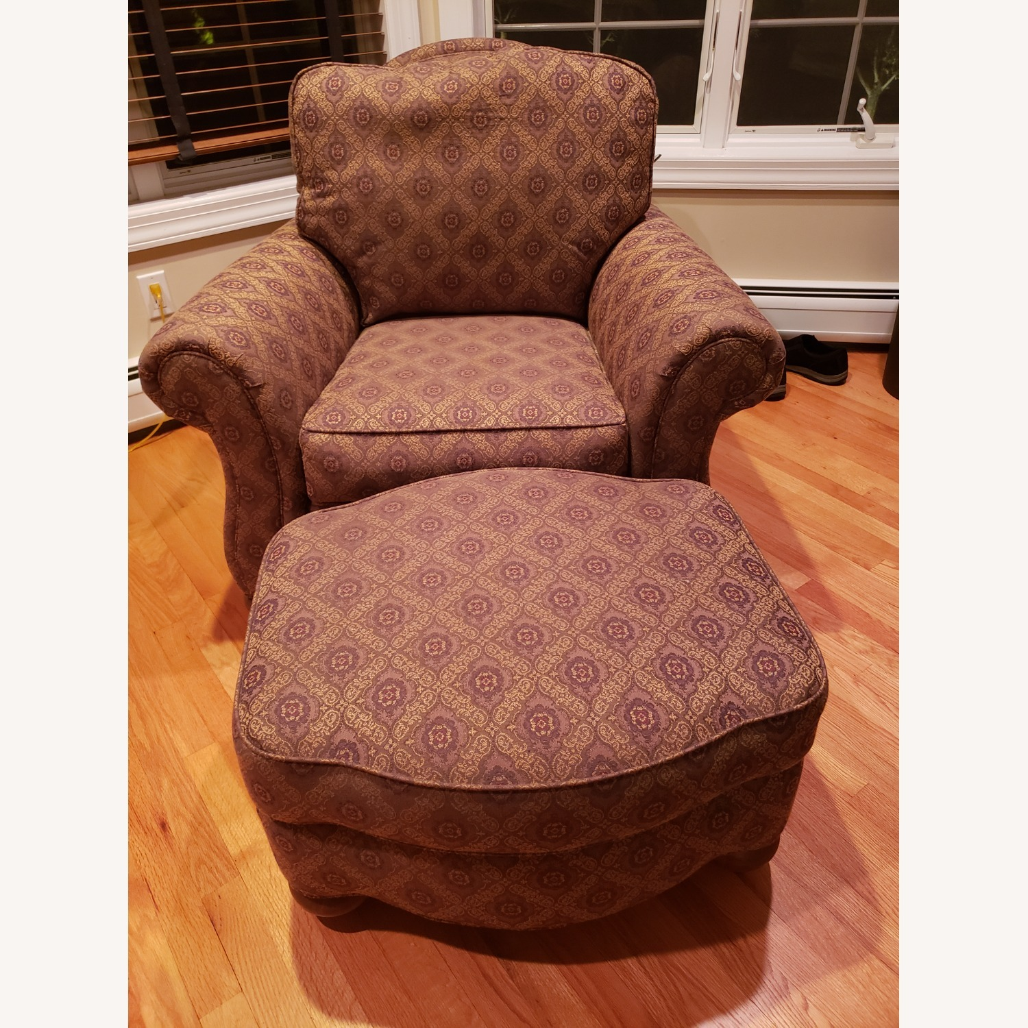 Ethan Allen Chair with Ottoman - image-2
