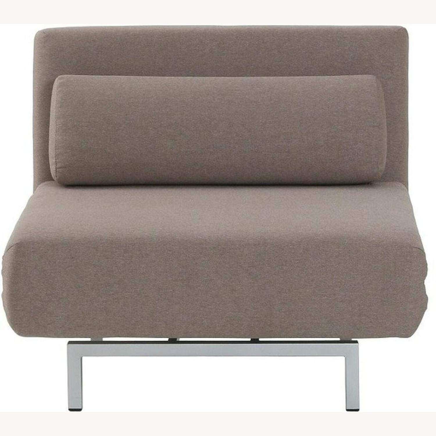 Convertible Sofa Bed In Beige Fabric Upholstery - image-2