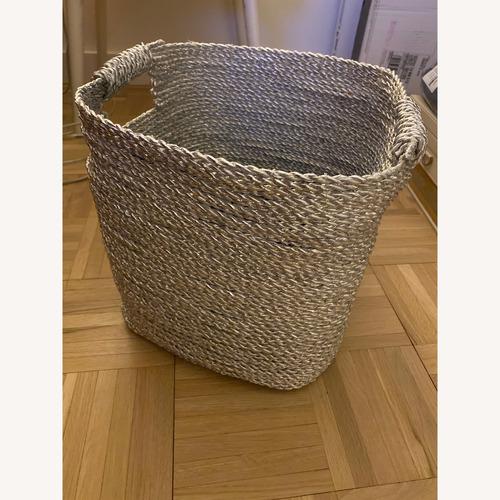 Used West Elm Metallic Basket for sale on AptDeco