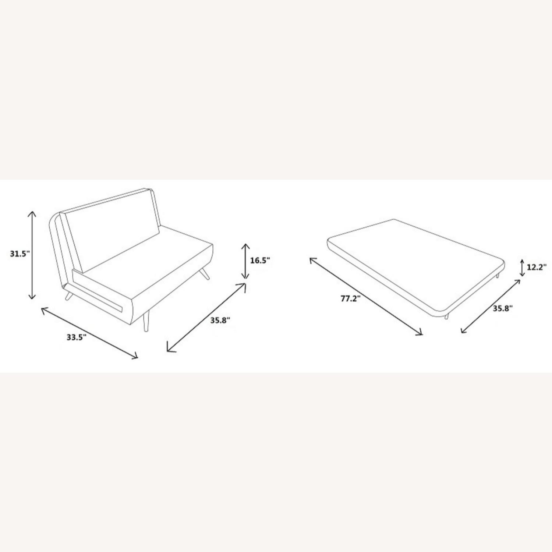 Single Sofa Bed In Royal Blue Hued Microfiber - image-5