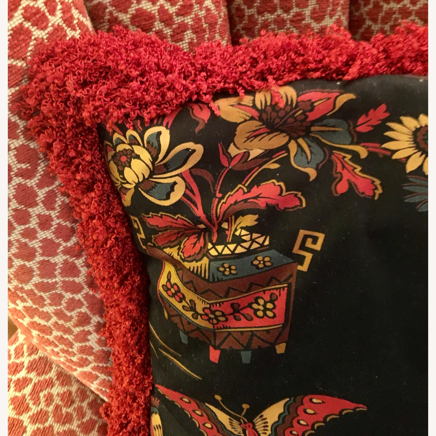 Multi-colored Decorative Pillow with Geisha - image-2