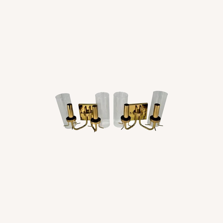 Pair Baldinger 2-Arm Candelabra Sconces - image-0