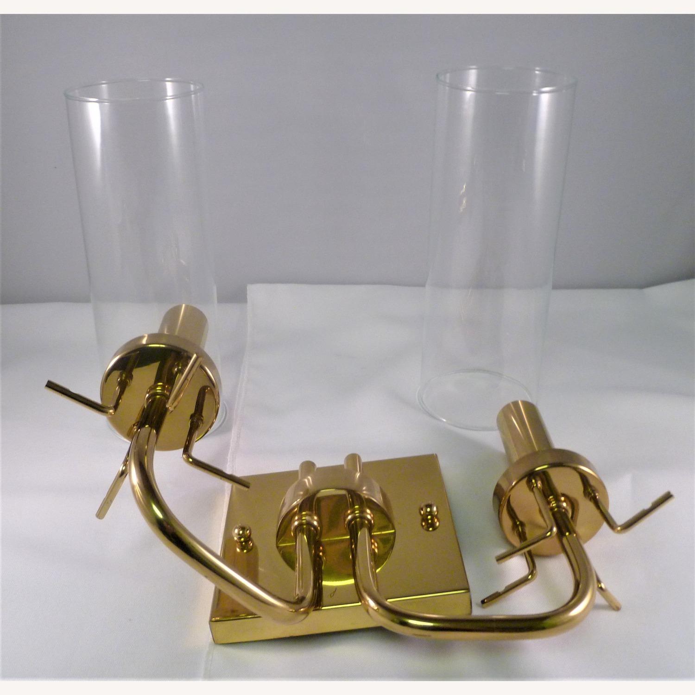 Pair Baldinger 2-Arm Candelabra Sconces - image-2