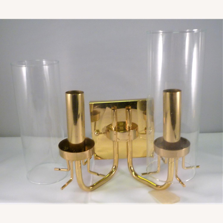 Pair Baldinger 2-Arm Candelabra Sconces - image-5