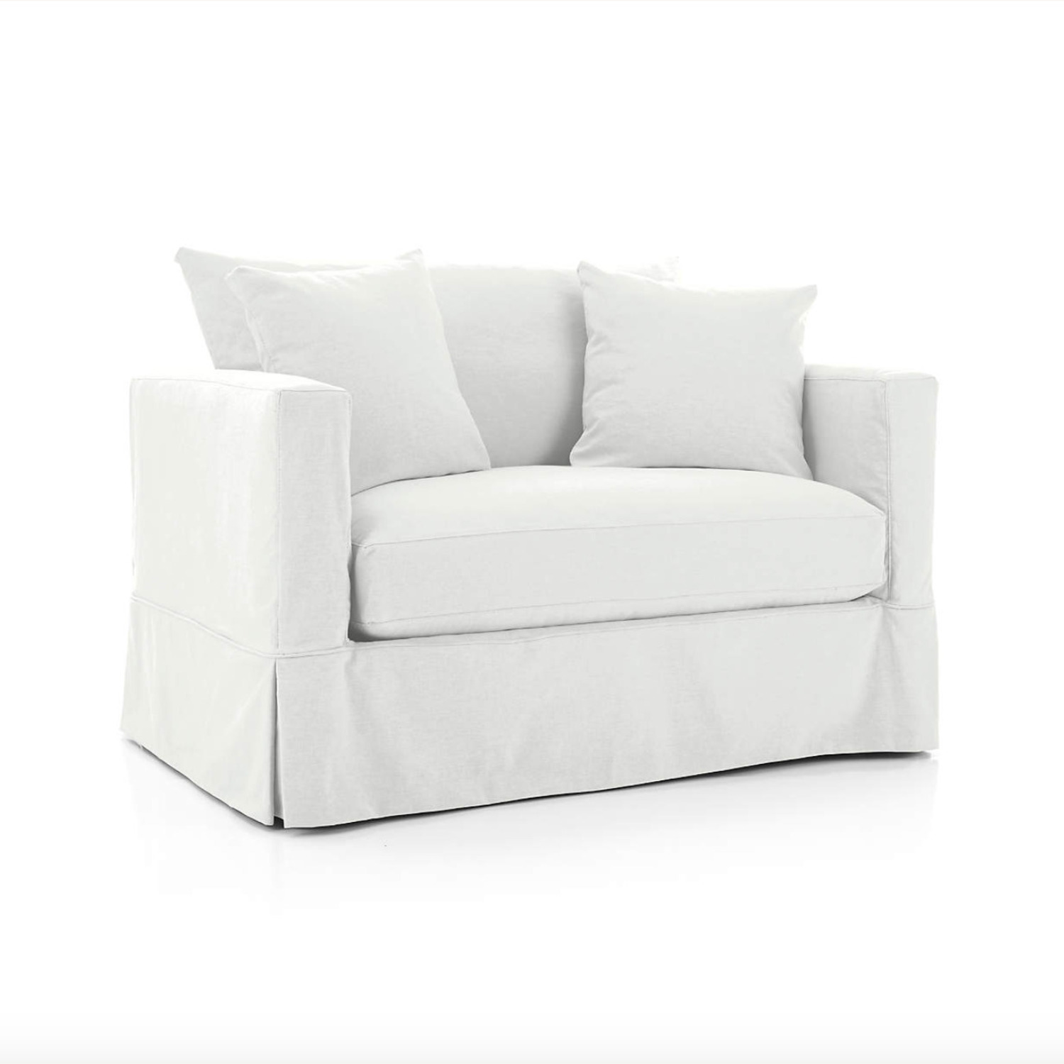 Crate & Barrel Willow Modern Slipcovered Twin Sleeper Sofa - image-4