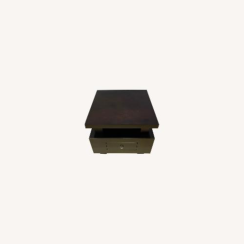 Used Bloomingdale's Asian Minimalist Drawer Side Table for sale on AptDeco