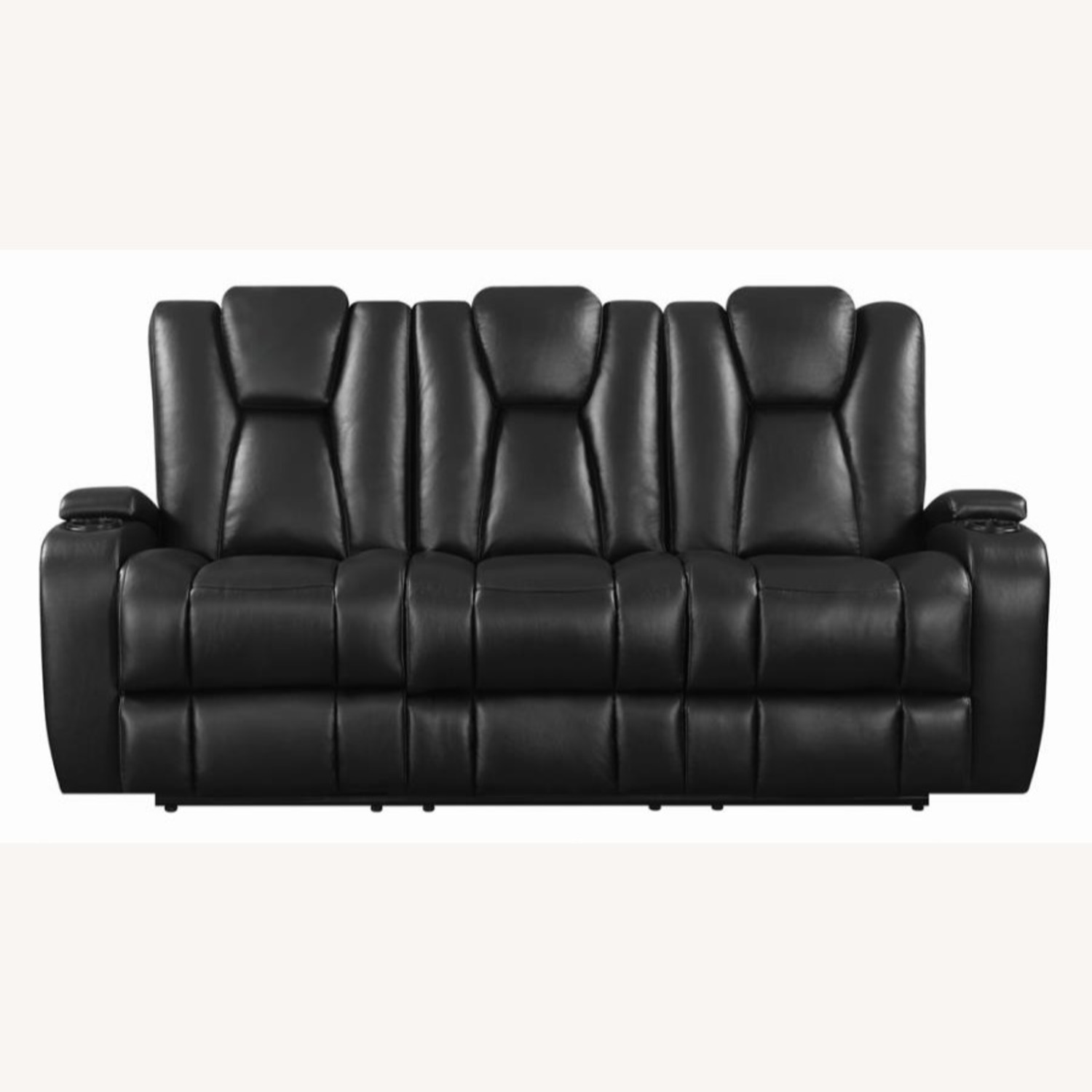 Power2 Sofa In Black Breathable Leather  - image-0