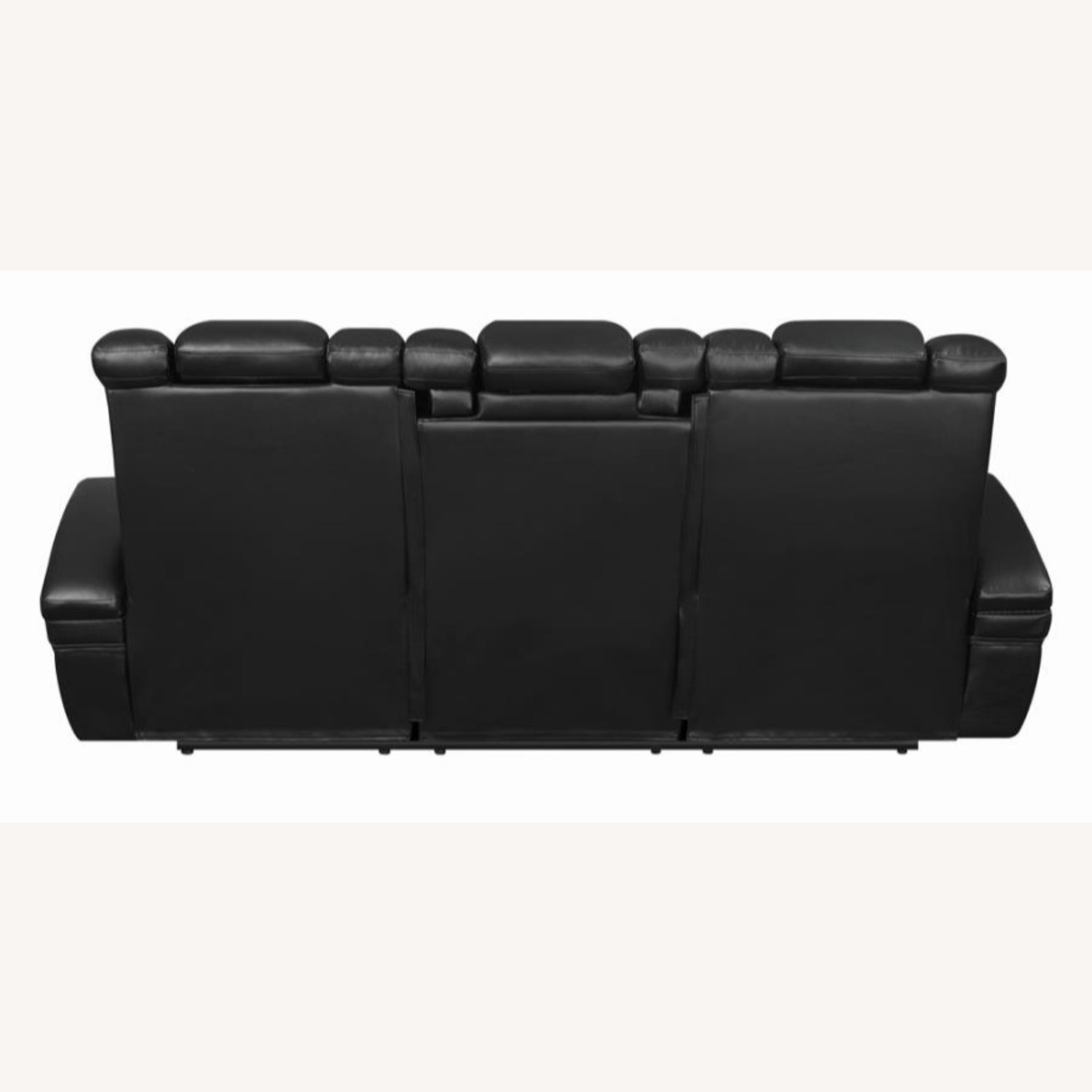 Power2 Sofa In Black Breathable Leather  - image-5
