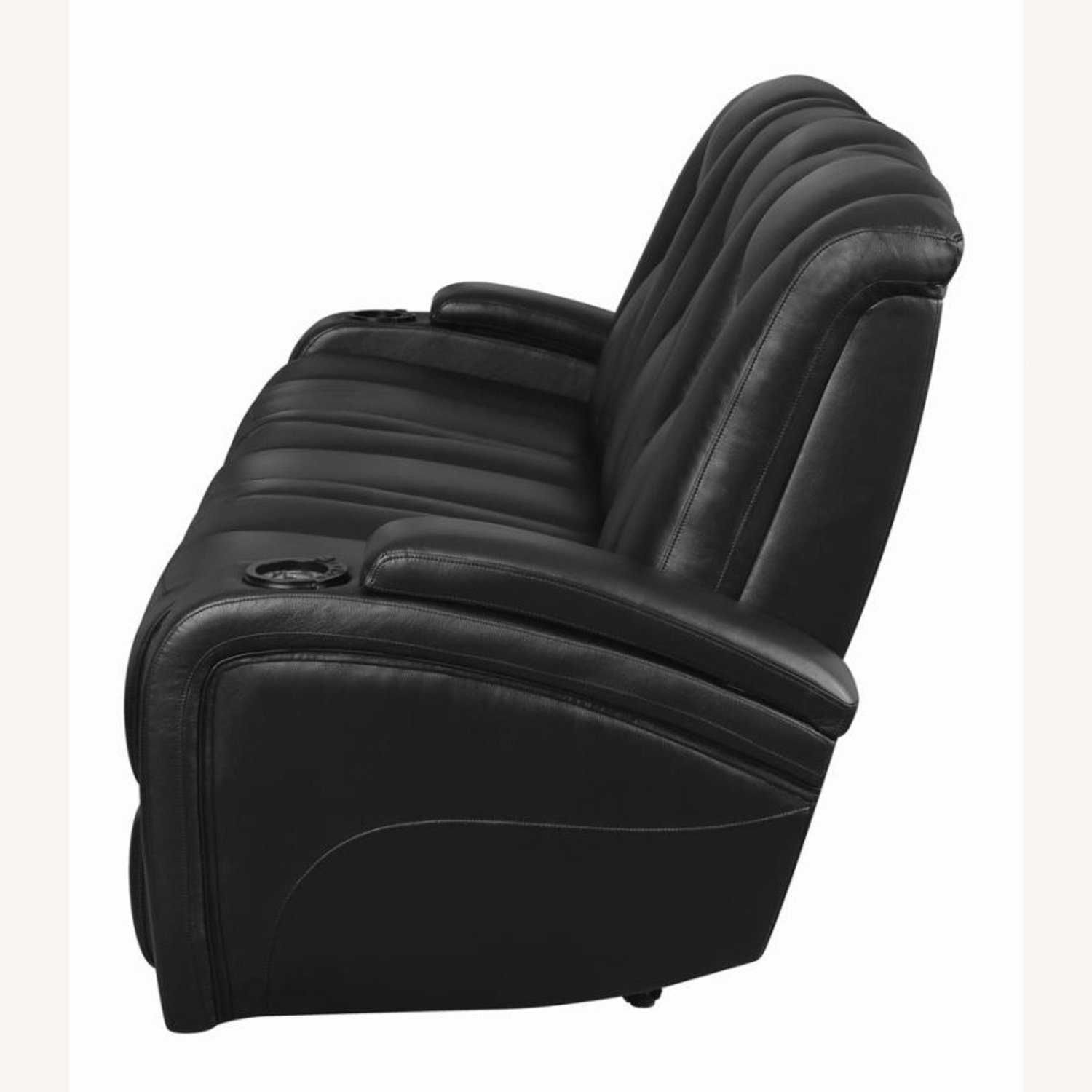 Power2 Sofa In Black Breathable Leather  - image-3
