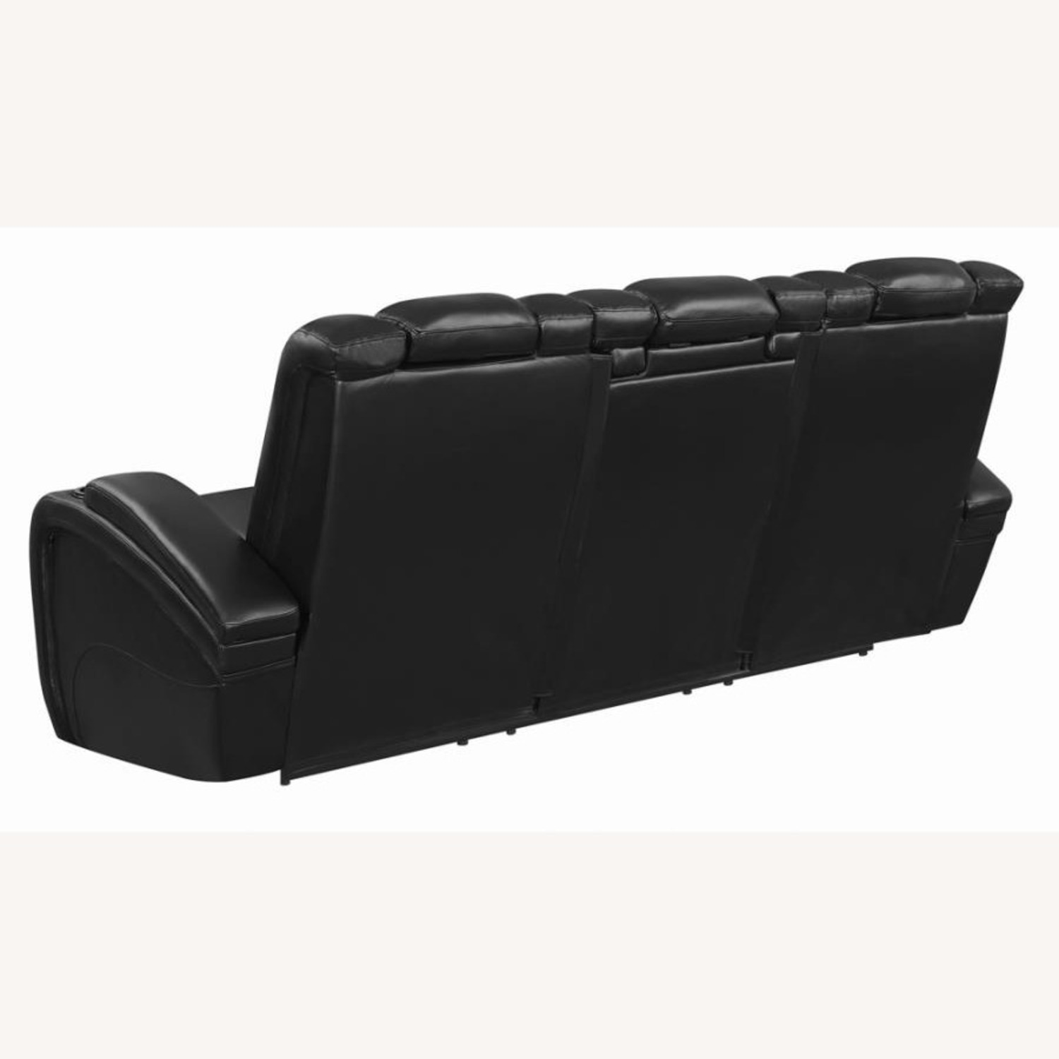 Power2 Sofa In Black Breathable Leather  - image-4